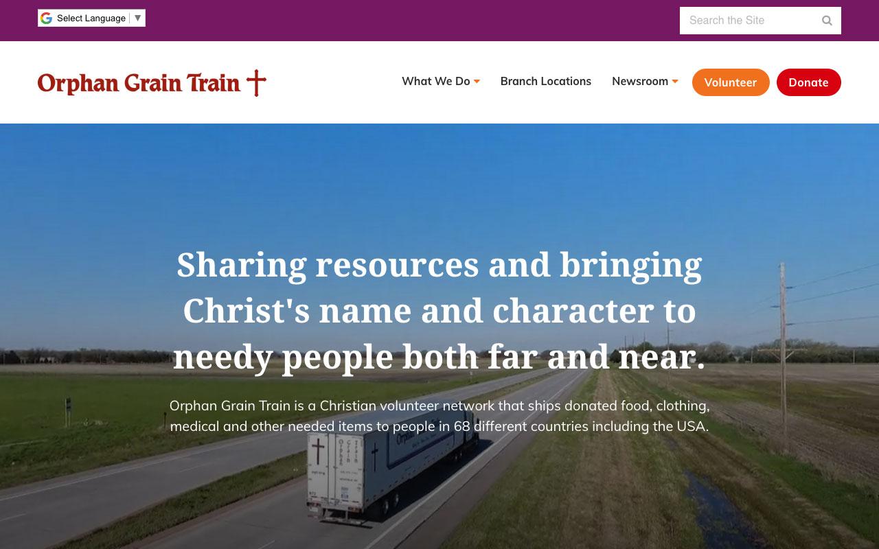 Orphan Grain Train | Orphan Grain Train | Sharing resources and